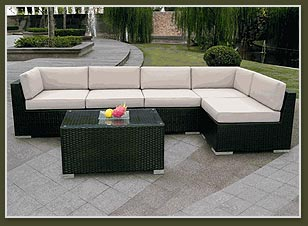 Ohana Depot Patio Outdoor Wicker Sofa Furniture Factory Direct